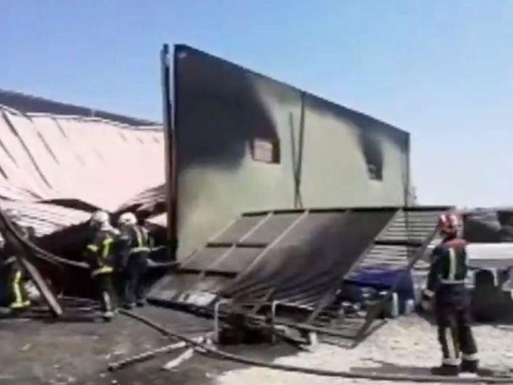 Incendio sin heridos en un silo de Arganda
