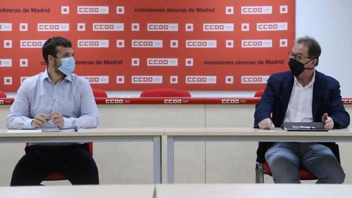 Reunión de CCOO y Podemos Comunidad de Madrid