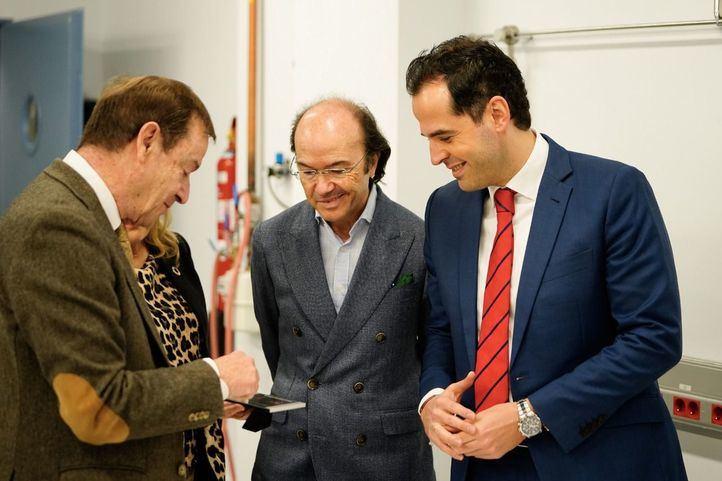 El vicepresidente de la Comunidad de Madrid, Ignacio Aguado, junto al consejero de Universidades, Eduardo Sicilia