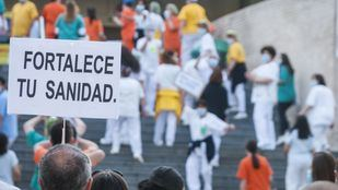 Imagen de archivo de una protesta en el Gregorio Marañón.