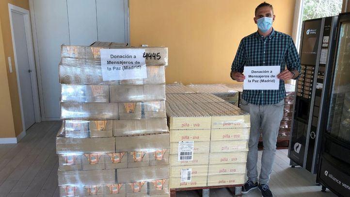 Mercadona dona a Mensajeros de la Paz cuatro toneladas de alimentos de primera necesidad
