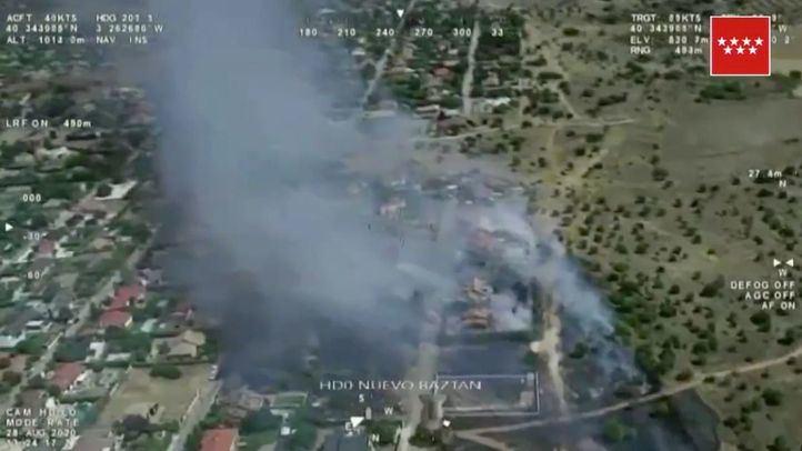 Los investigadores no descartan que el incendio en Eurovillas fuera provocado por okupas