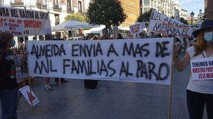 Nuevo domingo de protestas de los vendedores del Rastro