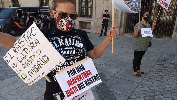 Última protesta de los comerciantes del Rastro
