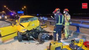 En la doble colisión se han visto implicados tres coches