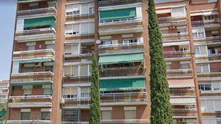 Edificio donde se encuentra la casa que ha sido ya desocupada en Leganés