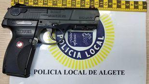 Arma requisada al joven que la sacó en Algete