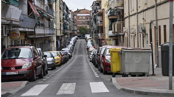 Una calle vacía en Villaverde