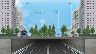 Proyecto del Paseo Verde del Suroeste y el soterramiento de la A5