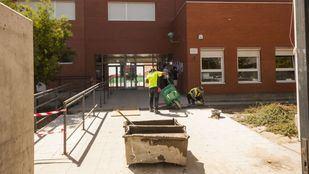 Obras de acondicionamiento en un centro educativo público de Madrid.
