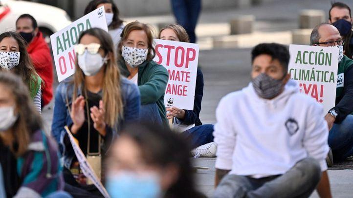 Sentada frente al Congreso por la justicia climática