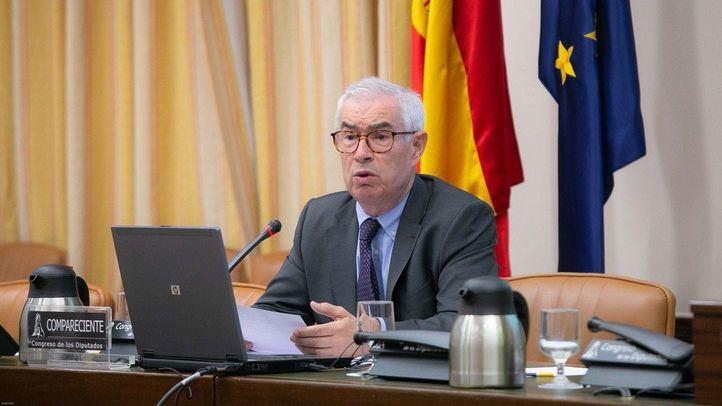 Emilio Bouza, en una comparecencia en el Congreso de los Diputados