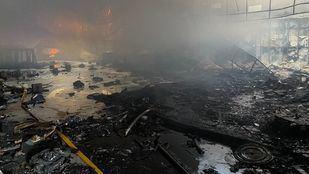 Interior de la discoteca tras el incendio