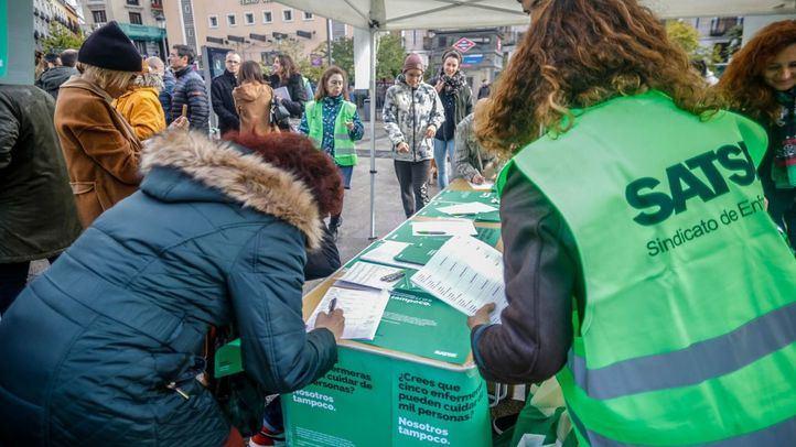 Satse Madrid convoca huelga indefinida a partir del 7 de octubre en la Enfermería pública