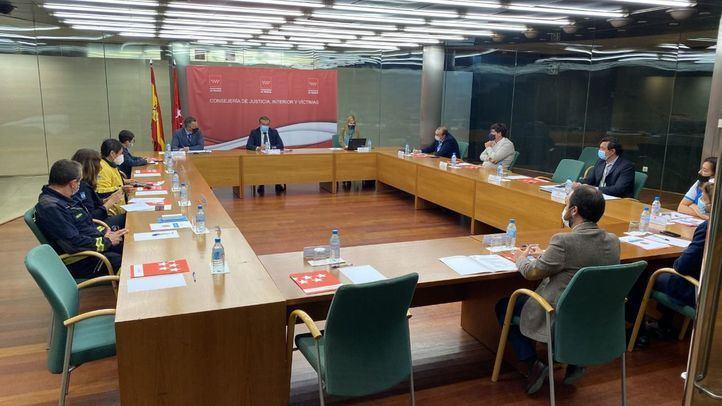 Reunión del consejero de Justicia con Protección Civil