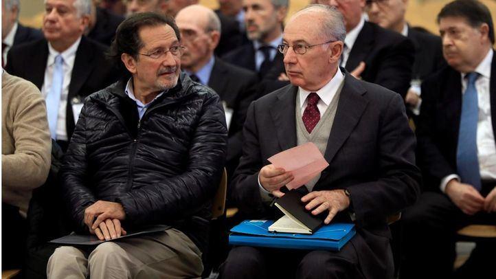Rodrigo Rato tras declarar en el juicio por la salida a Bolsa de Bankia