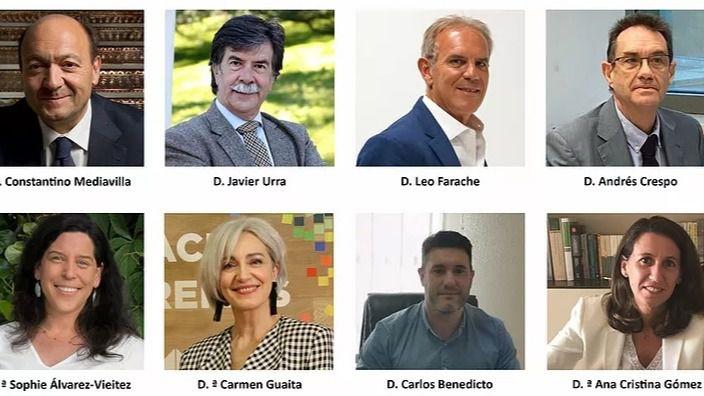 Los ponentes que han participado en el encuentro virtual moderado por Constantino Mediavilla, presidente-editor de Madridiario y Diariocrítico.