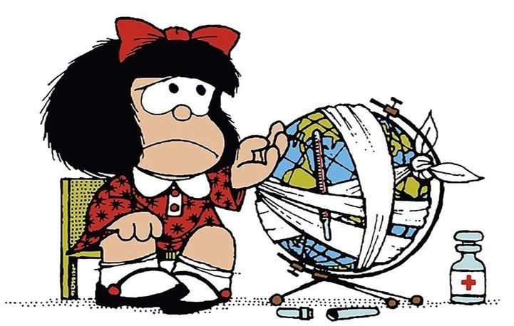Mafalda, el famoso personaje del dibujante Quino