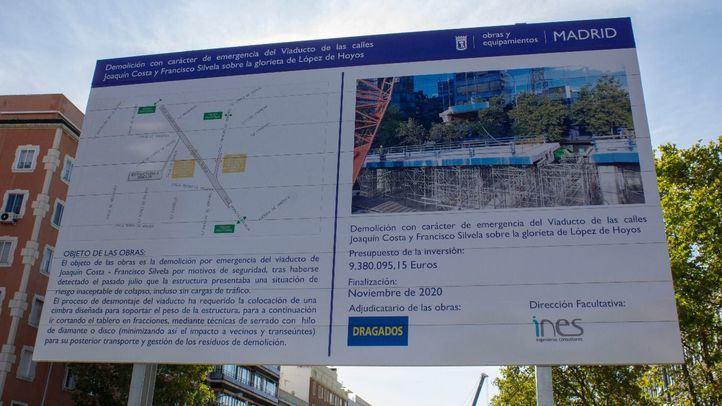 Reabre al tráfico este miércoles la calle Príncipe de Vergara en su cruce con Francisco Silvela