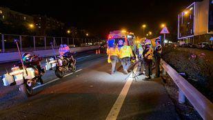 Un hombre, herido de gravedad al ser atropellado cuando cruzaba la M-30