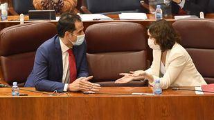 Díaz Ayuso y Aguado, reunidos desde primera hora para abordar la cuestión de las restricciones