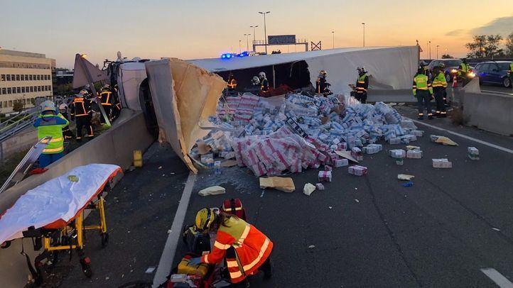 Estado del camión tras el accidente