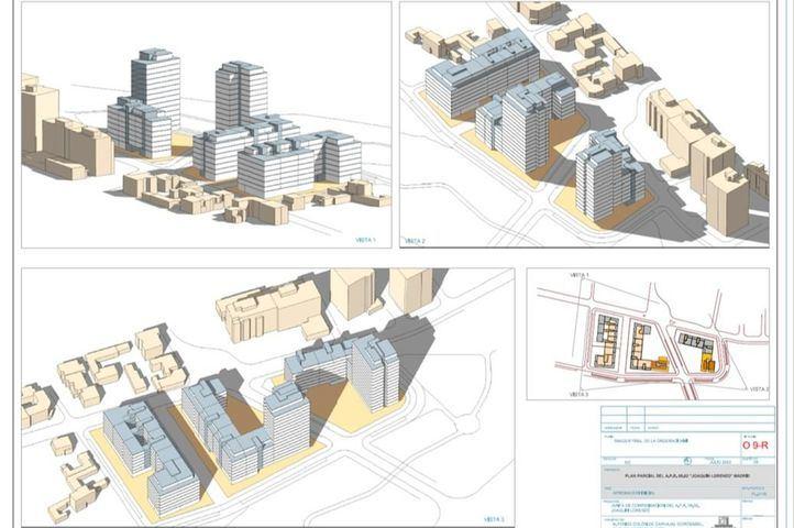 Aprobación inicial del plan para urbanizar el ámbito de Joaquín Lorenzo con vivienda protegida y zonas verdes