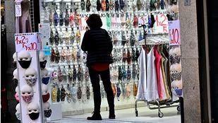 Tienda de mascarillas en el centro de Madrid