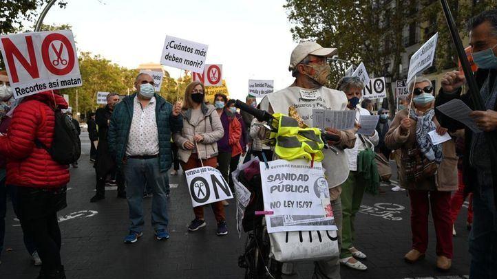 Manifestación en Madrid a favor de la sanidad pública