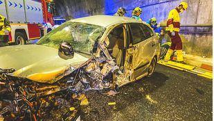 Herido grave tras chocar su vehículo contra la galería de hormigón del túnel de Somosierra