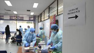 Test de antígenos en San Sebastián de Los Reyes.