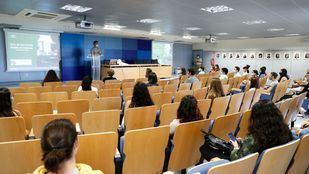 Aula de la Facultad de Ciencias de la Universidad Autónoma durante el primer día del curso escolar 2020-2021