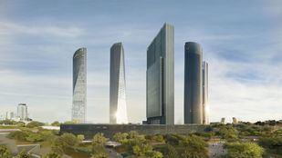 """Caleido, el último rascacielos del """"skyline"""" madrileño, construido con cemento fabricado en Madrid"""