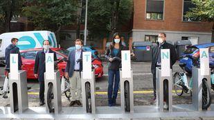 Latina estrena BiciMAD con una primera estación en la plaza Puerta del Ángel