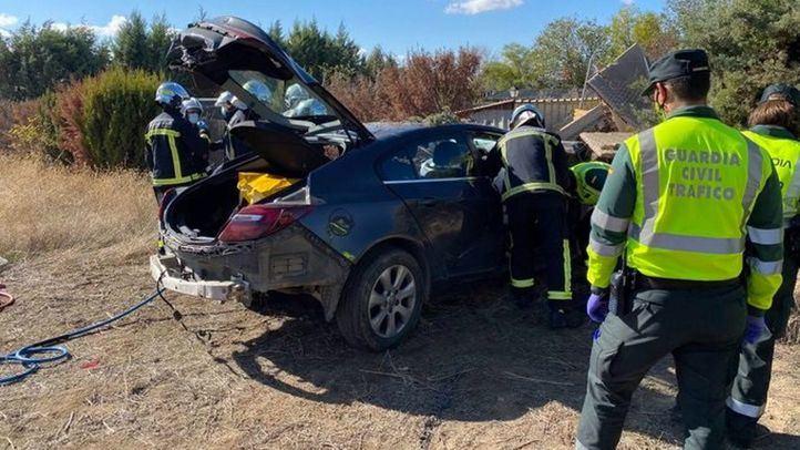 Muere un hombre de 29 años tras salirse de la vía en la M-318 en Colmenar de la Oreja
