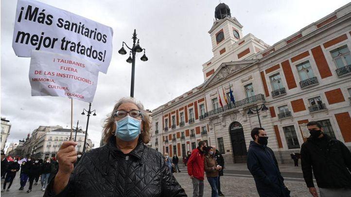 Manifestación en Madrid en defensa de los servicios públicos