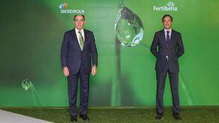 El presidente de Iberdrola, Ignacio Galán, y el presidente de Fertiberia, Javier Goñi
