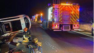 Cuatro heridos, uno de ellos crítico, en una colisión de dos turismos en Alcalá de Henares