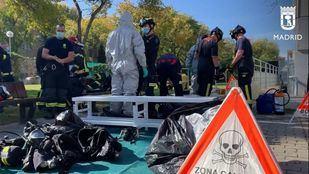 Un escape químico en el polideportivo Gallur de Latina moviliza a nueve dotaciones de bomberos