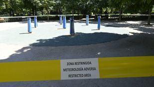 El Retiro y otros ocho parques mantendrán zonas balizadas