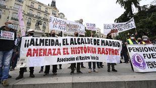 Protesta de los comerciantes de El Rastro