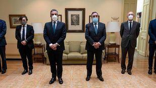 Foto del convenio entre El Corte Inglés y la ONCE