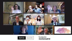 Imagen del encuentro virtual de reconocimiento a las asociaciones seleccionadas.