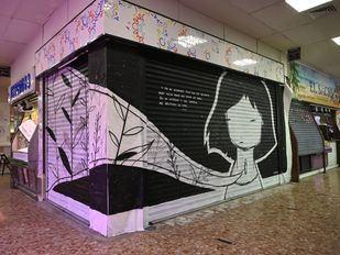 Pinta Malasaña llena de arte urbano el Mercado de los Mostenses