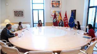 Reunión de portavoces en Cibeles.
