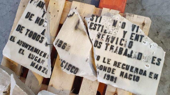 UGT anuncia querella contra el Ayuntamiento por los daños en la placa de Largo Caballero