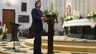 Almeida pide a la Almudena fuerza para los madrileños frente a la