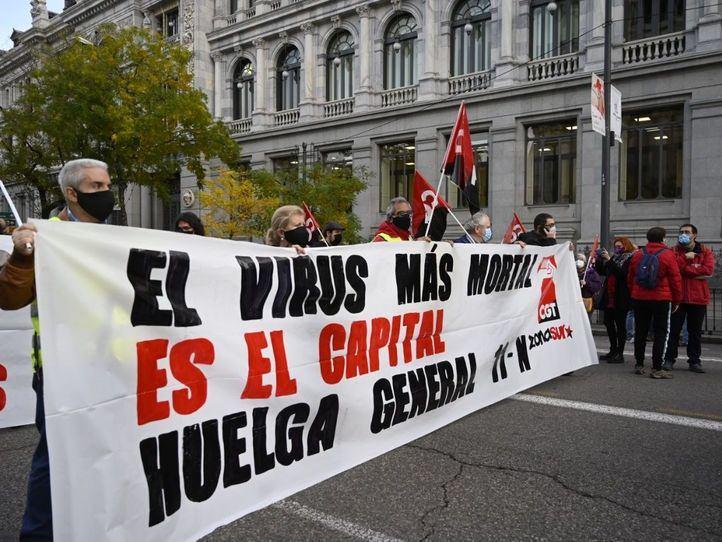 CGT y otros colectivos sociales convocan huelga general este miércoles