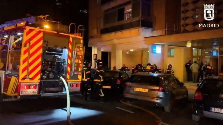 Ocho dotaciones de bomberos extinguieron el incendio