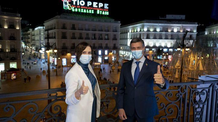 Isabel Díaz Ayuso con Leopoldo López